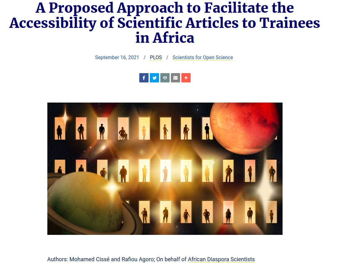 A Proposed Approach to Facilitate the Accessibility of Scientific Articles to Trainees in Africa